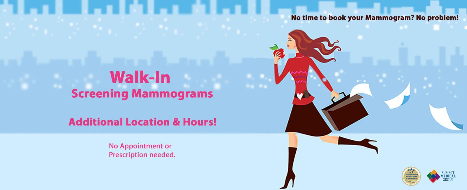 Walk-In Screening Mammograms